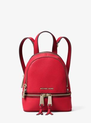 MICHAEL Michael Kors Rhea Mini Leather Backpack