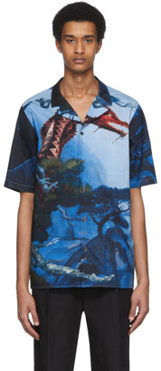 Valentino Multicolor Dragon Garden Short Sleeve Shirt