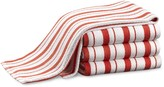 Williams-Sonoma Williams Sonoma Stripe Towels, Set of 4, Flame