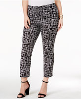 Alfani Plus Size Printed Cropped Pants, Only at Macy's