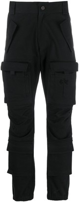 Palm Angels Slim-Leg Denim Cargo Pants