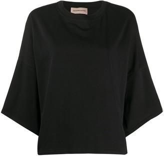 Alexandre Vauthier oversized 3/4 length sleeve T-shirt