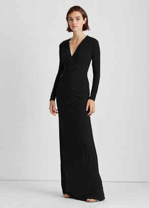 Ralph Lauren Pleated Matte Jersey Gown