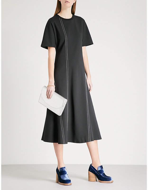 Diane von Furstenberg Contrast-stitch ponte dress
