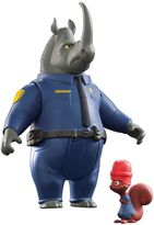 Tomy Disney's Zootopia McHorn & Safety Squirrel Character Figure Set by