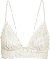 Vix Helen Snake-effect Triangle Bikini Top - Off-white
