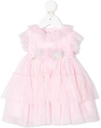 Miss Blumarine Tulle Ruffled-Trimmed Dress