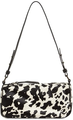 BY FAR Eve Cow Print Pony Skin Leather Bag