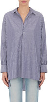 Nili Lotan Women's Ambrose Striped Poplin Tunic Shirt