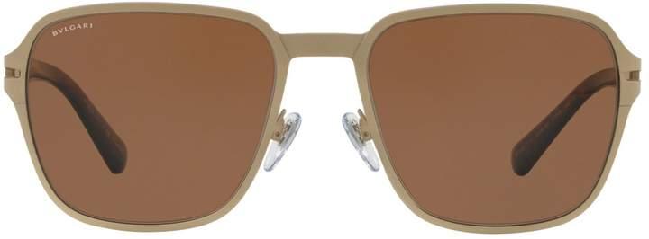 Bvlgari Titanium Square Sunglasses