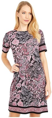 MICHAEL Michael Kors Arabesque Border Hems Dress (Geranium) Women's Dress