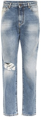 Saint Laurent High-rise distressed jeans