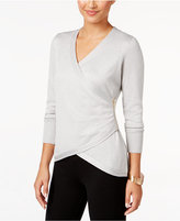 Thalia Sodi Faux-Wrap Sweater, Only at Macy's