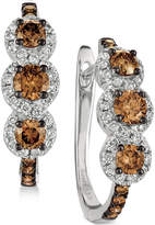 LeVian Le Vian Chocolatier Diamond Hoop Earrings (1-1/5 ct. t.w.) in 14k White Gold