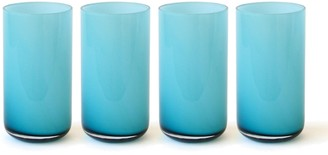 Jonathan Adler Turquoise Pop Highball Glass Bundle