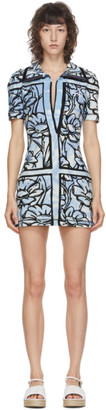 Fendi Blue Joshua Vides Edition Terrycloth Short Dress