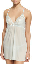 Tart Alexa Scoop-Neck Lace-Trim Babydoll Set, Sky