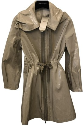 Emporio Armani Beige Cotton Trench Coat for Women