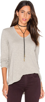 Wilt Vintage V Neck Long Sleeve Top