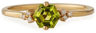Suzanne Kalan KALAN by Bloom 14k Yellow Gold Hexagon Ring w/ Diamonds, Size 4-8.5