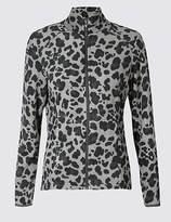 M&S Collection Leopard Print Fleece Jacket