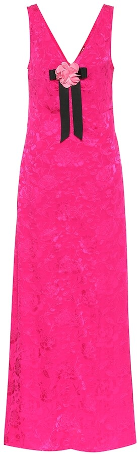 STAUD Setter floral jacquard maxi dress