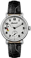 Ingersoll Women's Quartz Stainless Steel and Leather Casual Watch, Color:Black (Model: ID00101)