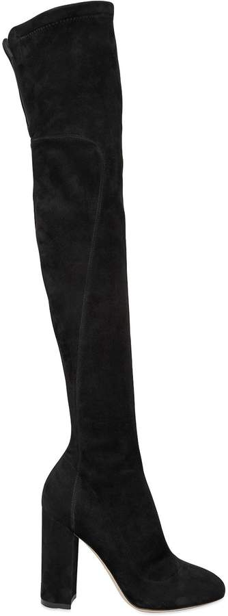 Dolce & Gabbana 90mm Stretch Suede Over The Knee Boots