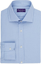Ralph Lauren Purple Label Men's Micro-Checked Dress Shirt-BLUE