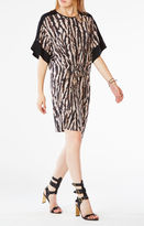 BCBGMAXAZRIA Nicolette Animal Print Dress