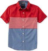 Nautica Big Boys 8-20 Mixed-Media Short-Sleeve Woven Shirt