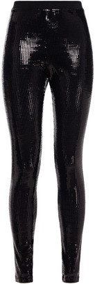 Love Moschino Sequined Stretch-jersey Leggings