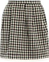 Checked mini bell skirt