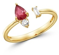 Bloomingdale's Ruby & Diamond Open Ring in 14K Yellow Gold - 100% Exclusive