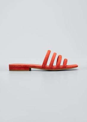 Vince Zahara Flat Suede Slide Sandals