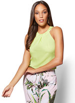 New York & Co. 7th Avenue - Halter Blouse - Lime