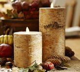 Pottery Barn Premium Flicker Flameless Birch Wax Pillar Candle