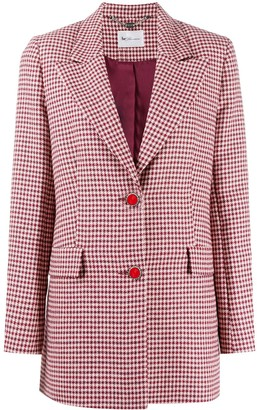 Blumarine Checked Tailored Blazer