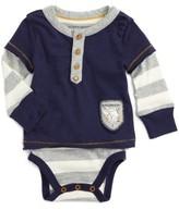 Infant Boy's Burt's Bees Organic Cotton Henley Bodysuit