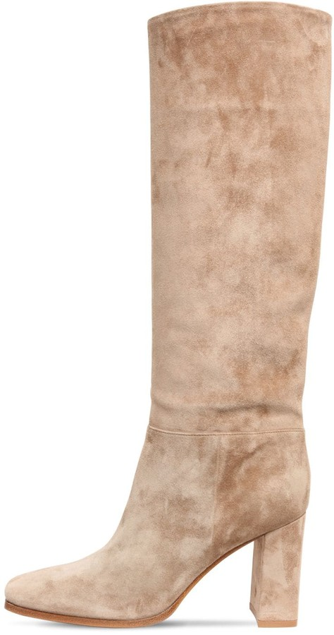 Beige Suede Boots   Shop the world's