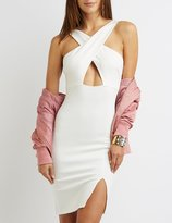 Charlotte Russe Cross Over Bust Bodycon Dress