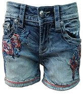 Miss Me Women's Cactus Embroidered Denim Short