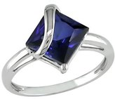 Square Sapphire Ring - Blue