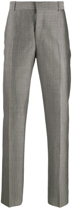 Alexander McQueen Satin Weave Suit Trousers