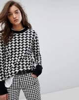 G Star G-Star Checkered Monochrome Knit