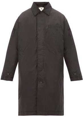 Snow Peak Single-breasted Down-filled Waxed Coat - Mens - Black