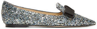 Jimmy Choo Blue Gala Loafers