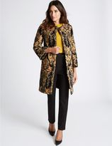 Marks and Spencer Cotton Rich Jacquard Print Coat