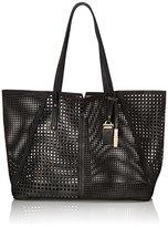 MG Collection Kamila Laser Cutout Oversize Shoulder Bag