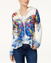 INC International Concepts Butterfly-Print Peplum Jacket, Only at Macy's